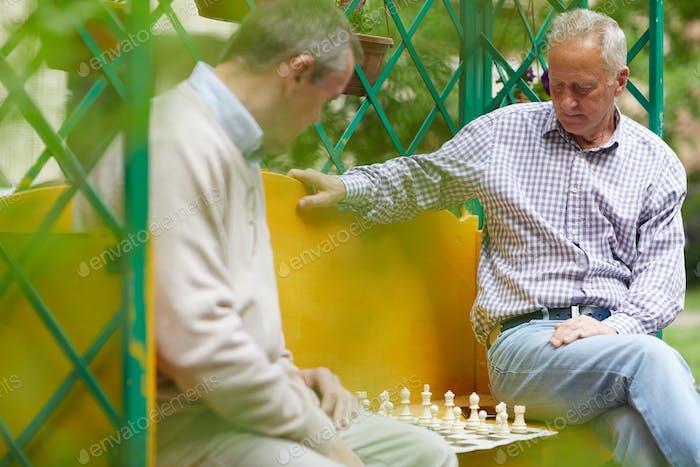Playing chess outside