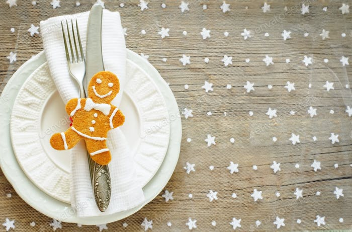 Christmas table settin