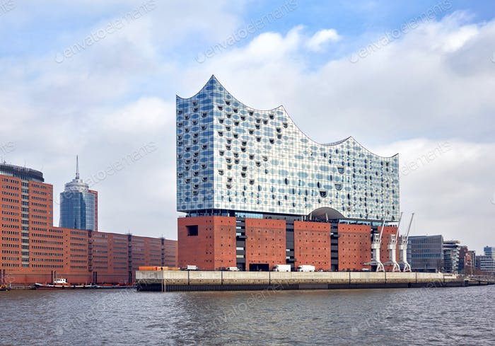 Elbphilharmonie; a concert hall in the HafenCity quarter of Hamburg, Germany