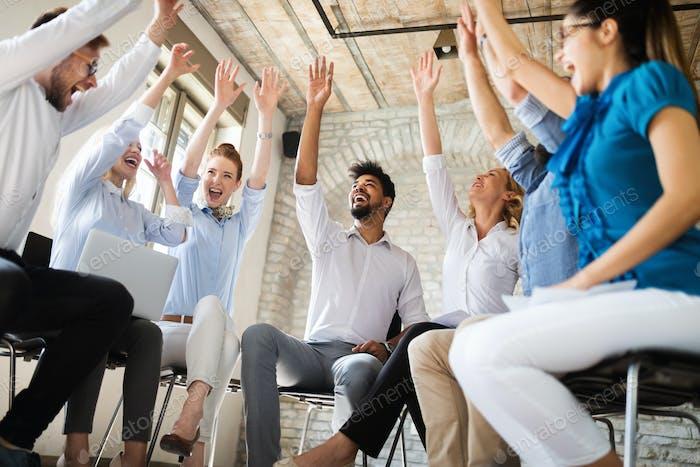 Business People Success Collaboration Teamwork Union Konzept