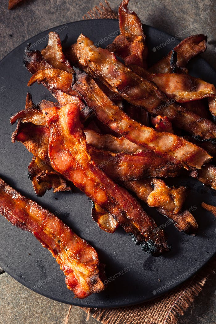 Greasy Hot Grilled Bacon