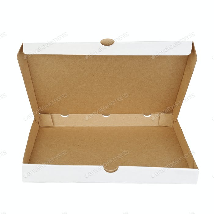 Container for pizza isolated