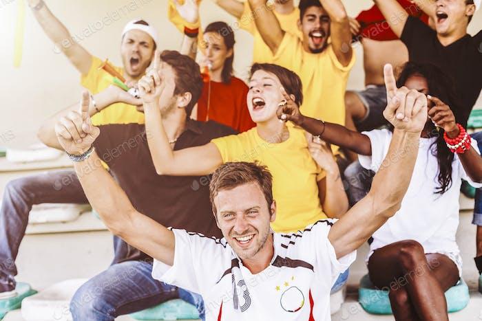 Partidarios de Alemania en el Estadio