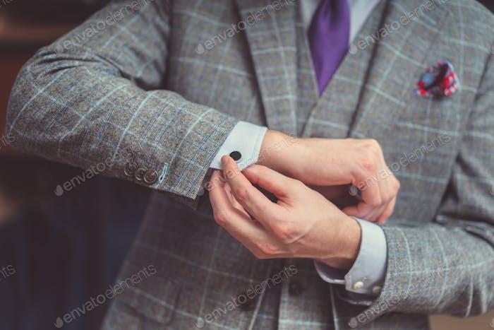 Empresario en traje