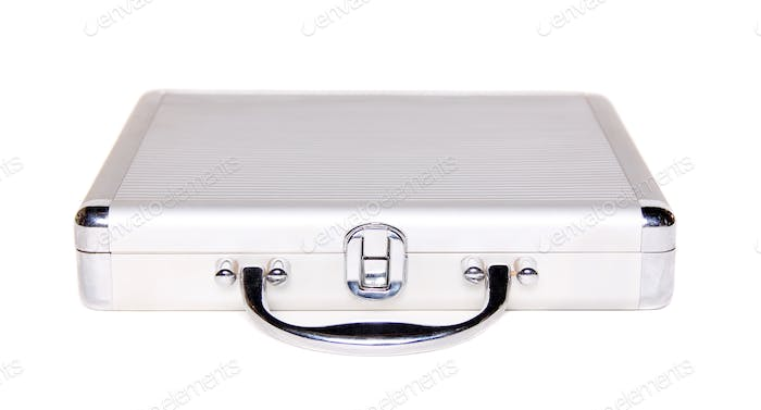 the silver brief case