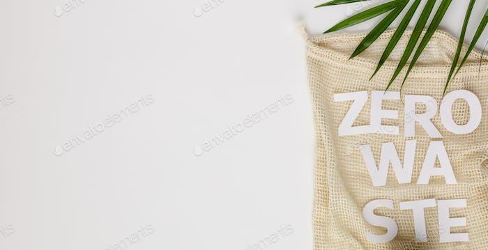 Zero waste concept, eco friendly accessories, flat lay