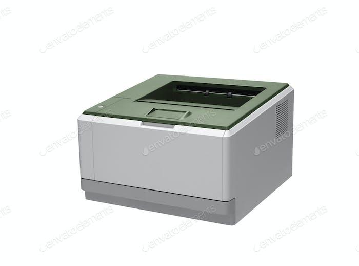 Принтер. На белом фоне.