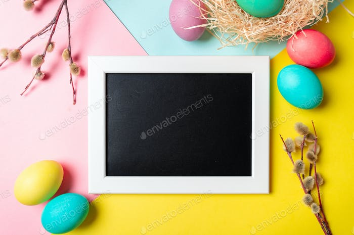 Colorful bright Orthodox Easter concept