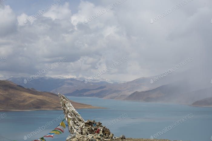 Tibetan landscape on the Friendship Highway in Tibet