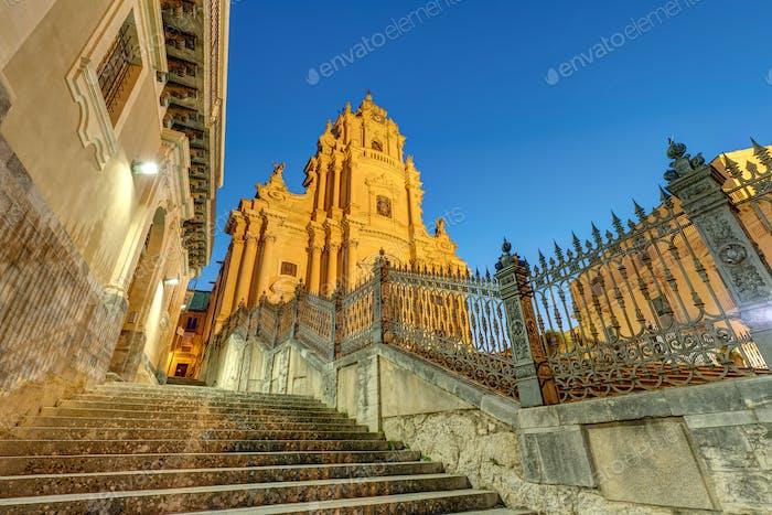 The cathedral of Ragusa Ibla at night