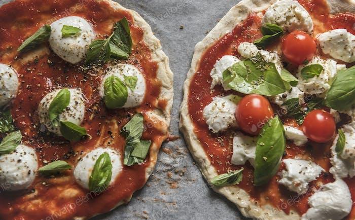 Homemade pizza  food photography recipe idea