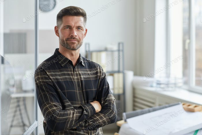 Portrait of Male Architect in Office