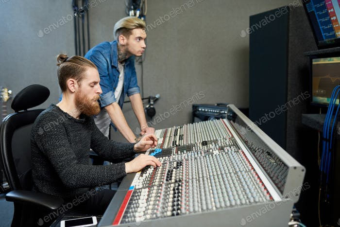 Sound producers in studio