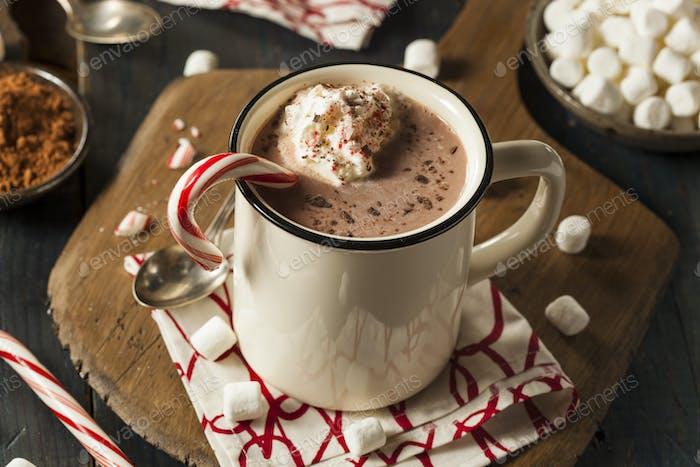 Hausgemachte Pfefferminze Heiße Schokolade