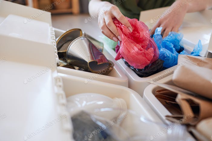 Bins for Sorting Trash at Home