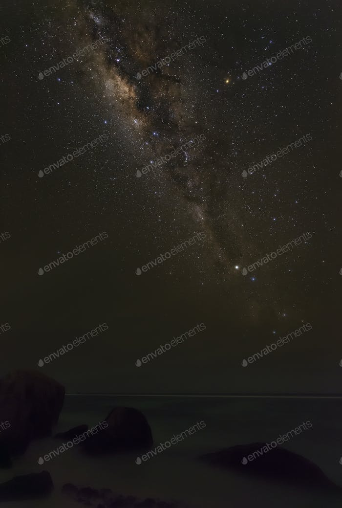 Milky Way Above Beach