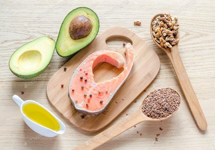 Aliments avec des graisses insaturées