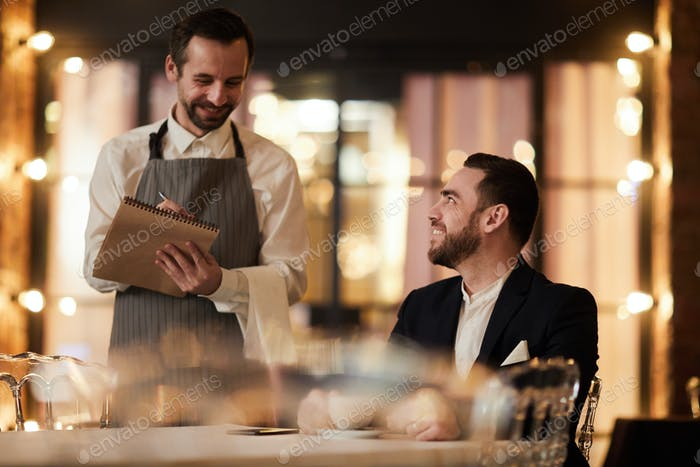 Guest Ordering Food in Restaurant