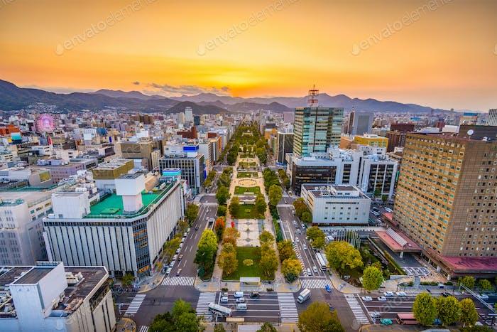 Sapporo, Japan Stadtbild