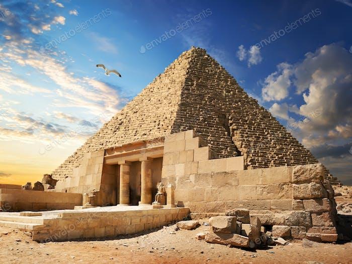 Pyramide in der Nähe von Gizeh