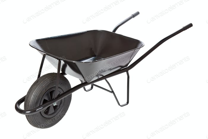black wheelbarrow