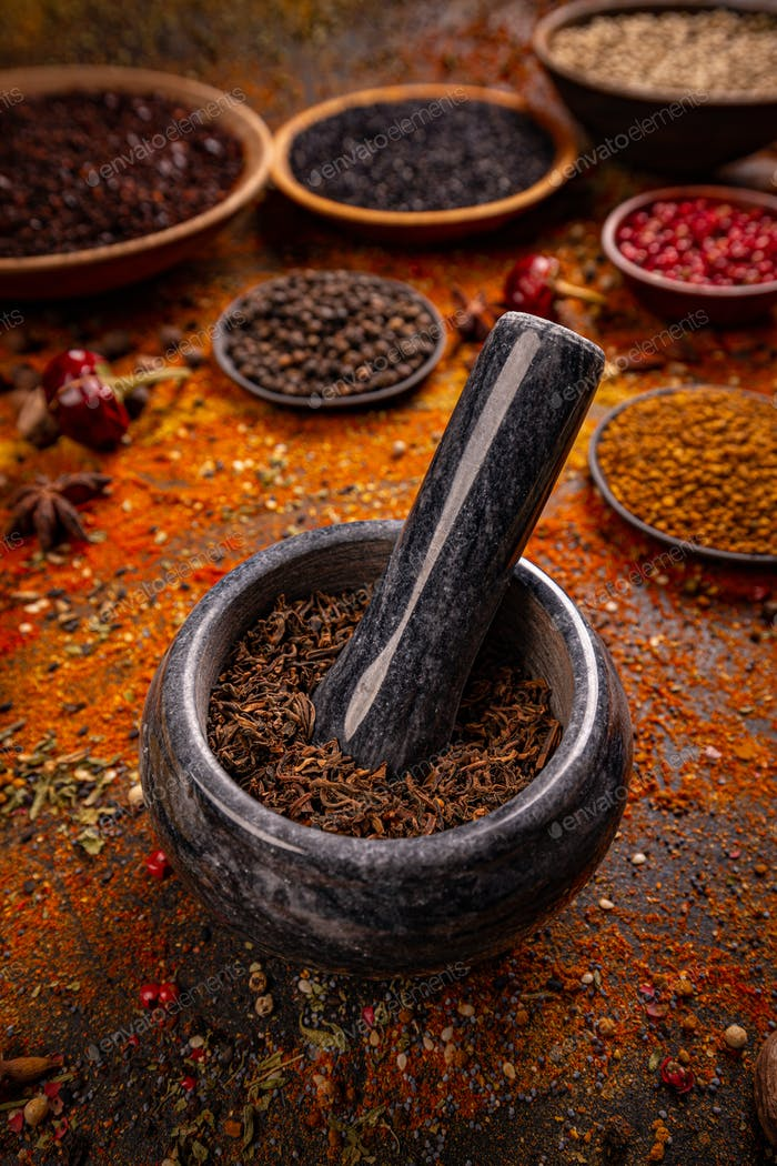 Spice and herbs composition