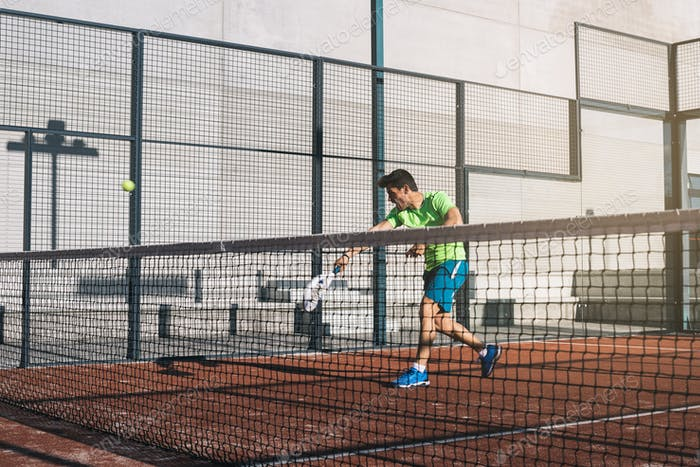 Man playing padel