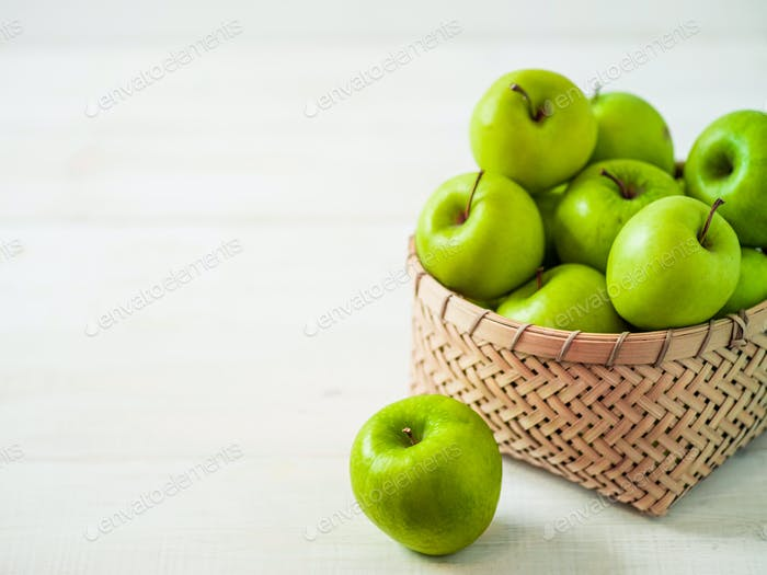 Äpfel Erntekonzept Kopierbereich