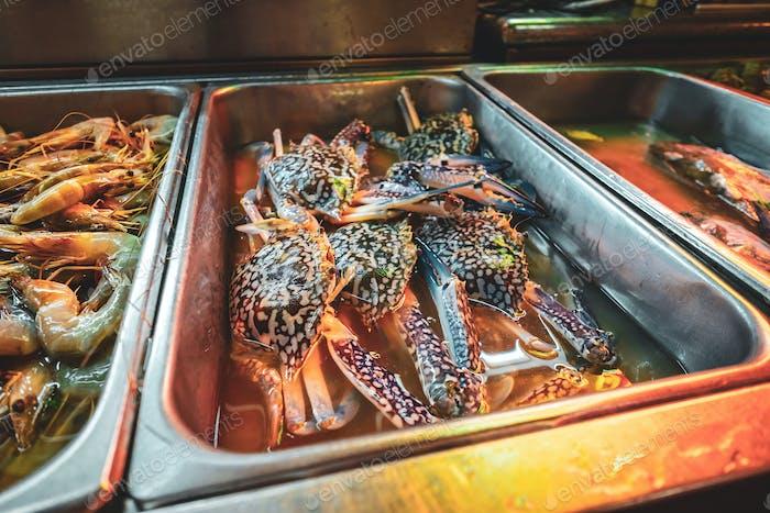 KUCHING / SARAWAK  / MALAYSIA / JUNE 2014: Local street food mar