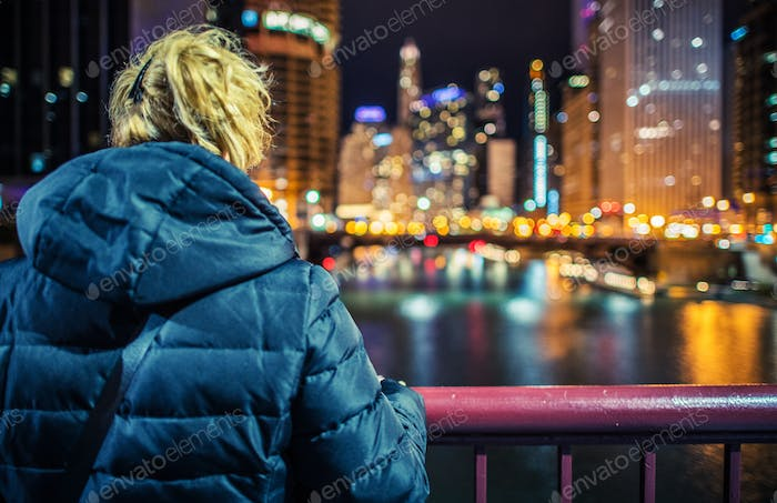 Woman and the City Lights