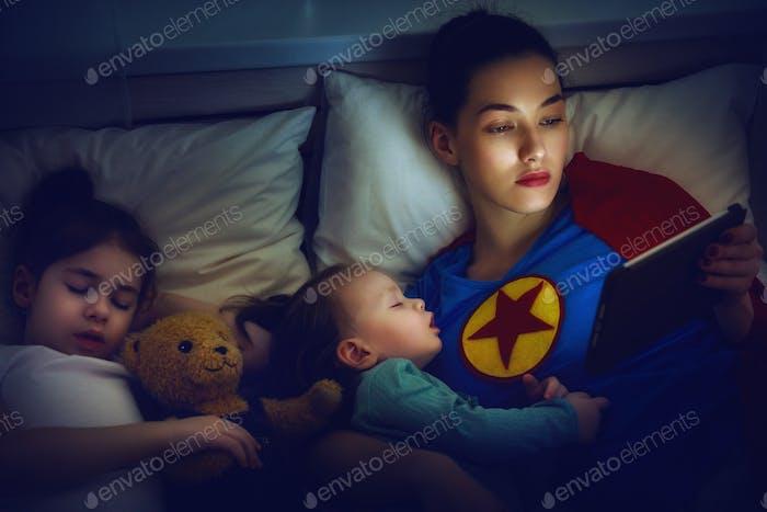 Schutz der Mutter Superhelden