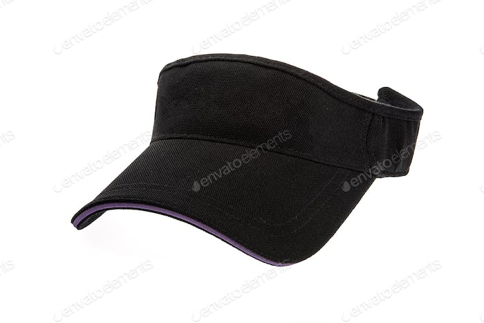 Adult golf visor on white background