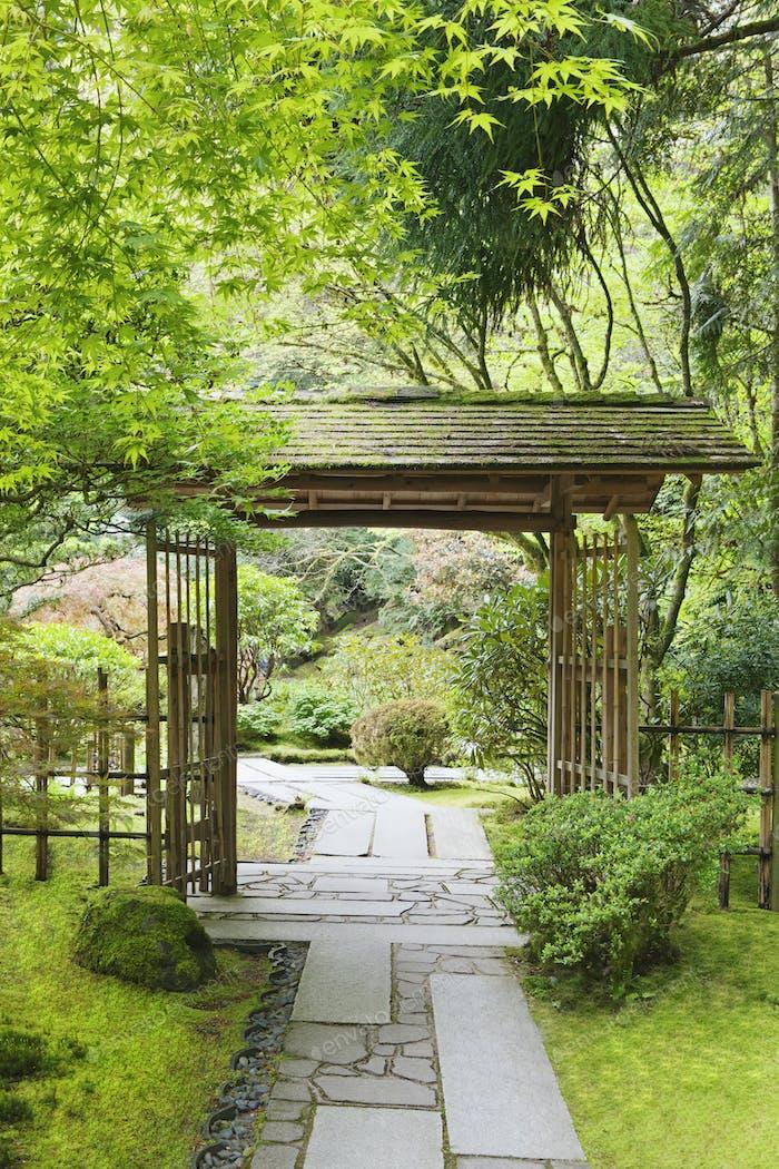 54103,Gazebo in Japanese Garden, Portland, Oregon, United States
