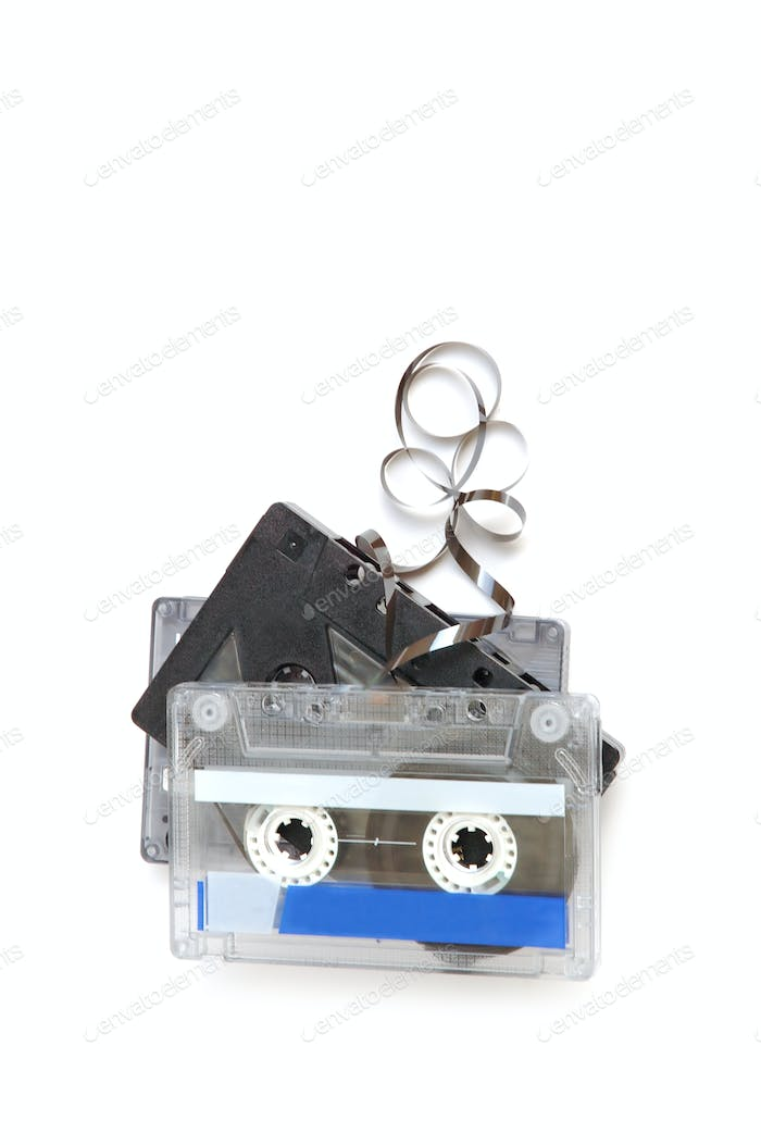Group of cassette tapes