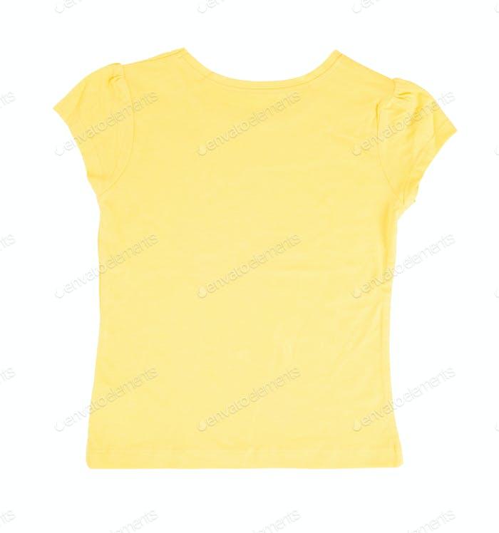 Yellow cotton t-shirt.