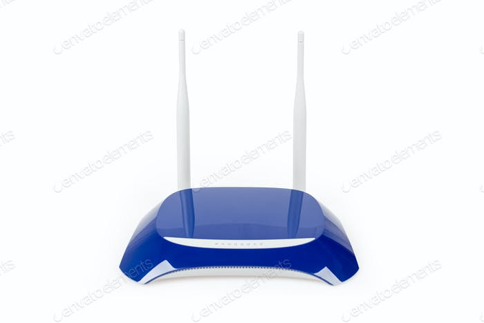 blue router isolated