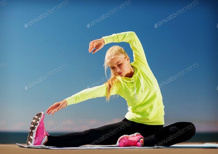 Frau Sport im Freien