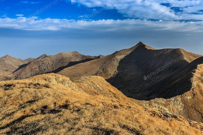 The Moldoveanu Peak in Fagaras Mountains