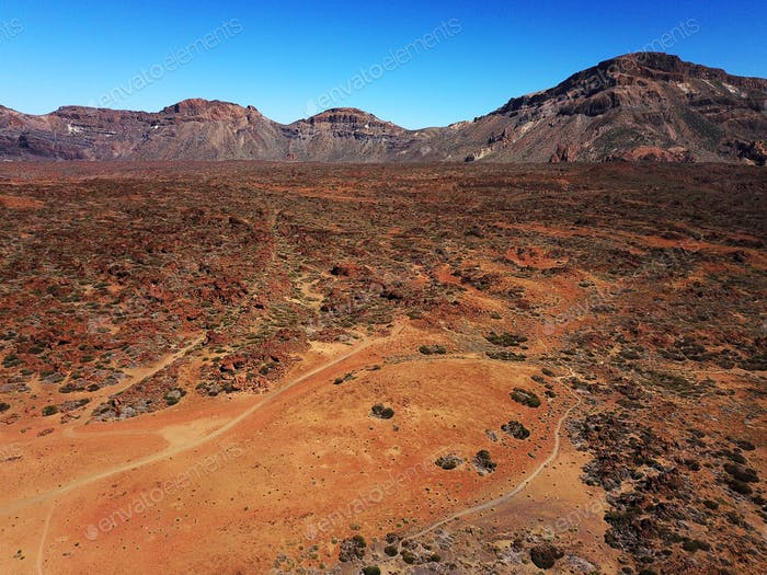 Aerial view of Teide National Park on Tenerife, Spain