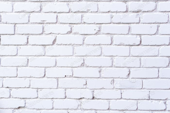White brick wall texture. Background with copy space for design