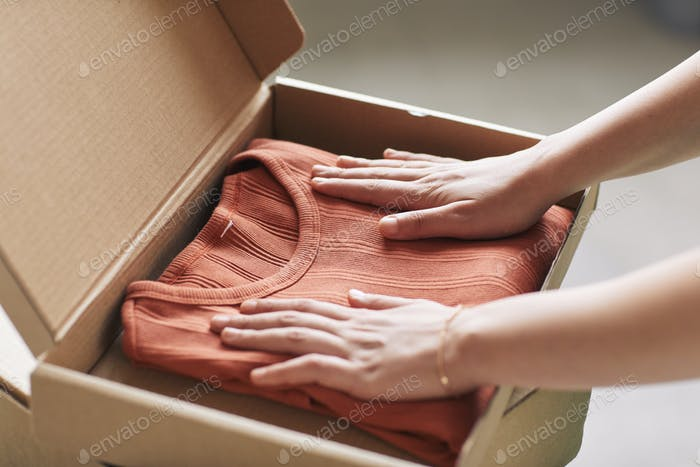 Parcel with new clothes