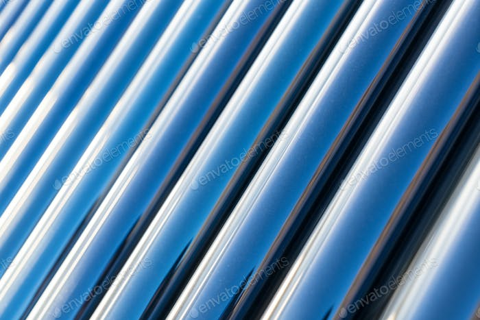 solar water heater closeup