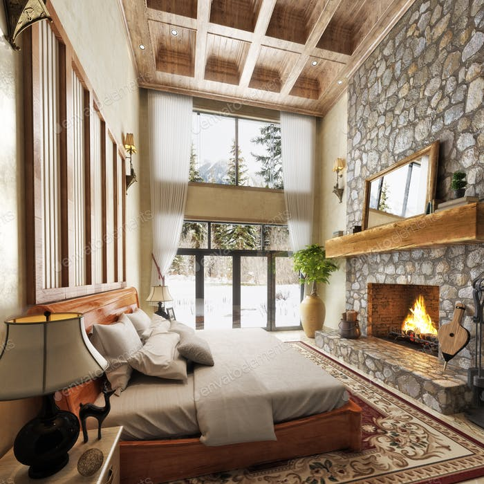 Cabin bed room