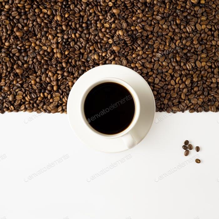 Kaffeehälfte.
