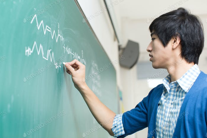 Asian College Student On Campus