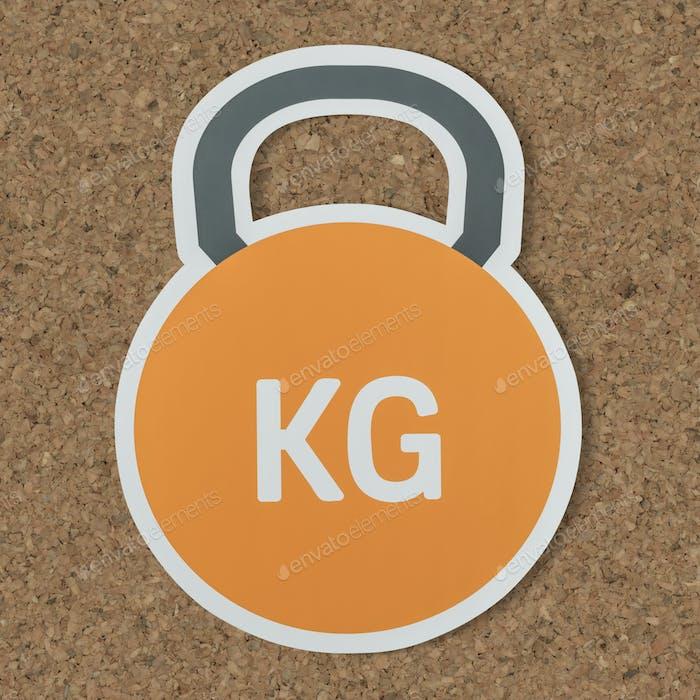 Kettlebell Schwergewichtsheben-Symbol