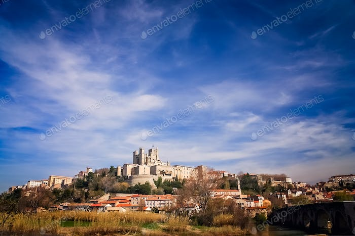 Beziers Cathedral on top of a hill