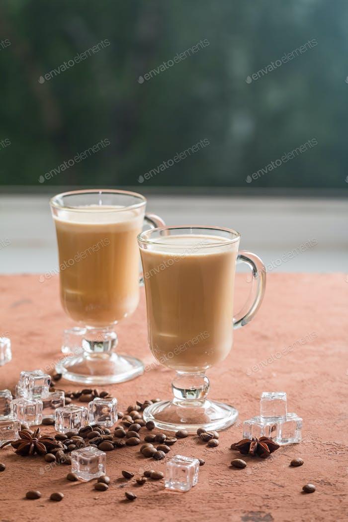 Ice coffee with milk