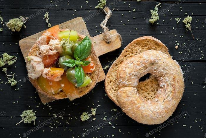 Fresella neapolitan food