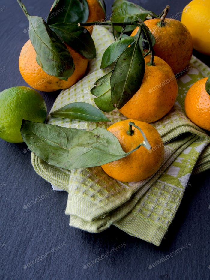 Tangerines, lemons and limes